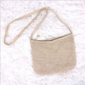 Handmade crochet cream purse